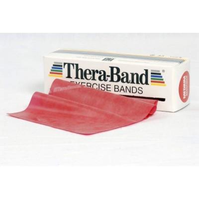 Taśma lateksowa Thera Band 1,5m czerwona - opór średni