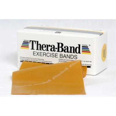 Taśma lateksowa Thera Band 2,5m złota - opór max. mocny