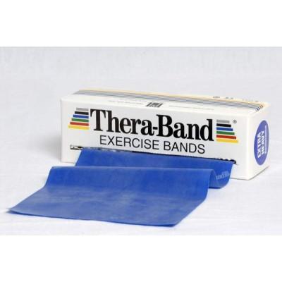 Taśma lateksowa Thera Band 2,5m niebieska - opór extra mocny