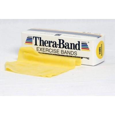 Taśma lateksowa Thera Band 1,5m żółta - opór słaby