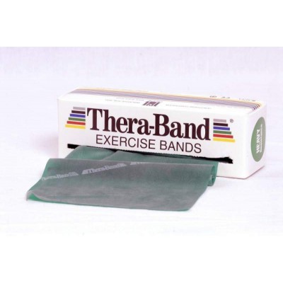 Taśma lateksowa Thera Band 2,5m zielona opór mocny