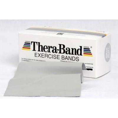 Taśma lateksowa Thera Band 1,5m srebrna - opór super mocny