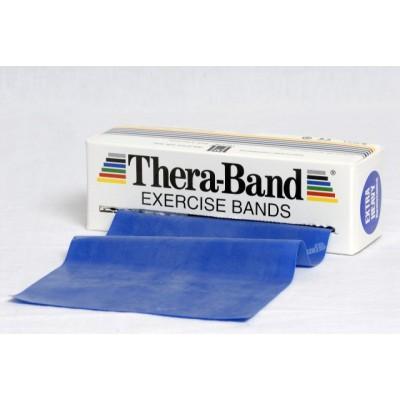 Taśma lateksowa Thera Band 5,5m niebieska - opór extra mocny